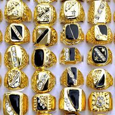 mens golden rings images 2015 fashion women mens gold rings white black enamel crystal gold jpg