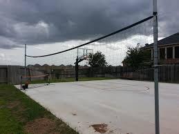 versatile multi court backyard slab basketball goal photo album