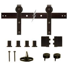 Home Decor Barn Hardware Sliding Barn Door Hardware 10 by Everbilt Dark Oil Rubbed Bronze Decorative Sliding Door Hardware