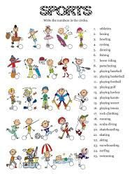 sports interactive worksheet the sports esl english worksheets