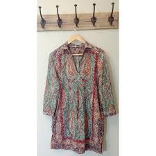 85 off joan vass dresses u0026 skirts joan vass paisley tunic dress