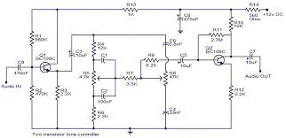 circuits u003e tone controller circuit diagram two transistor l33840