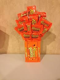 this is a reese u0027s pieces and reese u0027s candy bouquet can be made to
