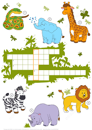 Halloween Crossword Puzzles Printable by Crossword Puzzle About Safari Animals Free Printable Puzzle Games