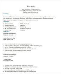 housekeeping resume pdf housekeeping resume objective template