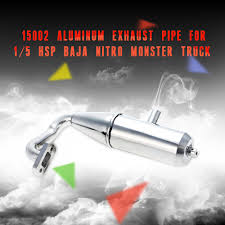 nitro monster trucks 15002 aluminum exhaust pipe for 1 5 hsp baja nitro monster truck