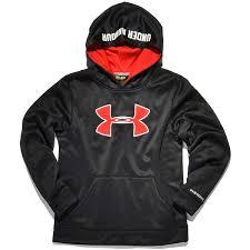 Under Armour Kids Clothes Under Armour Kids Af Storm Big Logo Po Hoody Black Red Bei Kickz Com