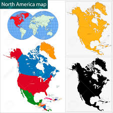 Map Of North America Countries by Colorful North America Map With Countries And Capital Cities