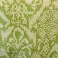 Geometric Fabrics Upholstery M9855 Lime Green Geometric Ikat Design Chenille Upholstery Fabric