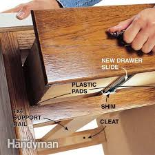 kitchen cabinet drawer guides how to replace a wooden drawer slide with a metal one wooden