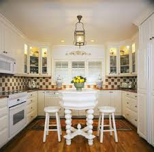 monochromatic white redesigning small kitchen with decorative