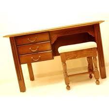 bureau rustique meuble bureau rustique bois 3 tiroirs et tabouret chataigne hêtre