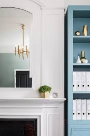 Free Standing Bookcases Fireplace With Blue Bookcase Contemporary Entrance Foyer