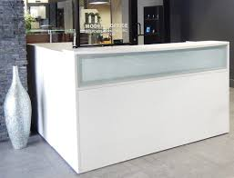 Reception Desk Uk Desk L Shaped White Reception Desk Wfrosted Glass Panel Desks