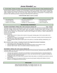 Consulting Resume Sample by Free Investment Consultant Resume Example