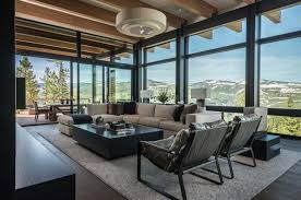 mountain modern home hovers above the montana wilderness decor