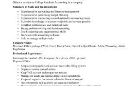 Recent College Graduate Resume Sample by Example Of Resume For Fresh Graduate Accountant