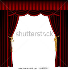 Theater Drape Illustration Red Stage Curtain Drape Tied Stock Vector 85554580