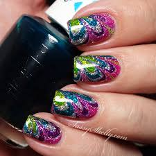 fashion inspired nails tie dye no mess watermarble tutorial