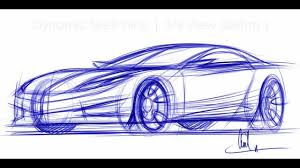 how to draw cars sketching a car in 3 4 view vid 1 youtube