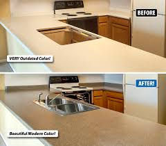 refinishing transforms outdated countertops to like new condition
