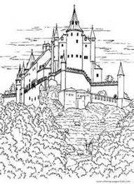 castle towers drawbridge coloring bjl