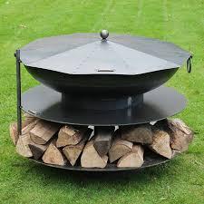 Steel Firepits Ring Of Logs Steel Firepit Garden Pit Logs And Steel