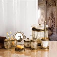 badezimmer accessoires bad accessoires im set greekey für s badezimmer de küche