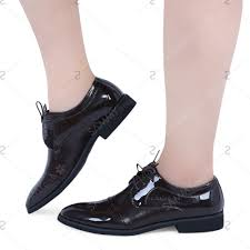 formal alligator pattern pointed toe lace up business patent