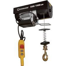 strongway electric cable hoist u2014 550 lb 1 100 lb capacity