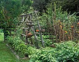 the potager garden in august