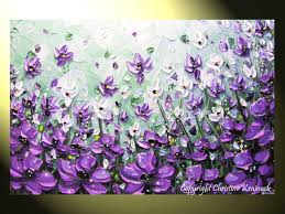 original art abstract painting lavender from contemporaryartbychr