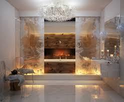 Small Bathroom Chandelier Bathroom Glamorous Bathroom Design With Futuristic Wall