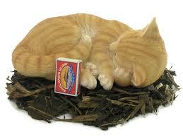sleeping cat resin garden ornament 18 99 garden4less