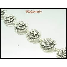 silver rose bracelet jewelry images Marcasite jewelry electroform rose bracelet sterling silver mb042 jpg