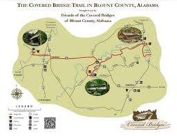 bridges of county map free printable map of covered bridge trail in blount county al com