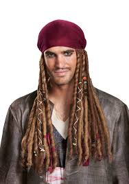 jack sparrow bandana w dreads for adults