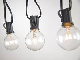 light bulb string lights brightown 100ft g40 globe string lights with clear bulbs ul listed