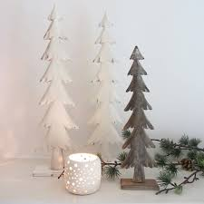 artificial flocked slim trees frosted