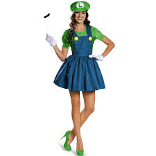 costumes for women buy mario womens luigi w skirt costume