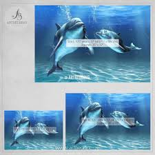 Wall Mural Wallpaper by Dolphins Wall Mural Dolphins Self Adhesive Peel U0026 Stick Photo