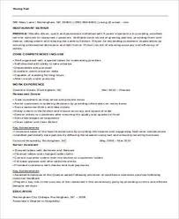 Banquet Waiter Resume Server Resume Template Unforgettable Server Resume Examples To