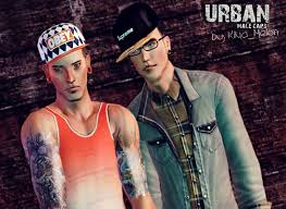 sims 3 men custom content sims 3 updates sims3 modeli urban male caps by kima melon