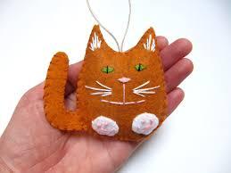 personalized cat ornament felt ornament