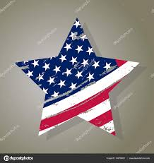 Usa Flag Vector Usa Star Grunge American Flag Vector U2014 Stock Vector
