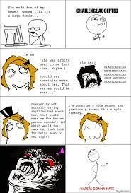 Meme Comic Tumblr - ragegenerator rage comic haters gonna hate