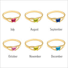 rings with birthstones 10kt gold butterfly birthstone ring with butterfly shaped cz