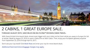 great deal discounted delta business class awards to europe one