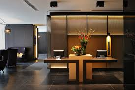 Lobby Reception Desk Lobby Hotel Brussels Reception Desk Millwork And Backdrop Wa