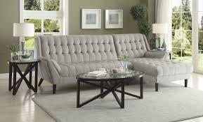 coaster natalia 503777 retro modern dove grey sectional sofa los